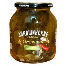 "Cucumbers ""Lukashynskie"" with Herbs and Oak leaves 670g"