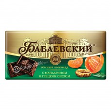 "Dark chocolate ""Babaevsky"" with Tangerine and Walnut 100g"