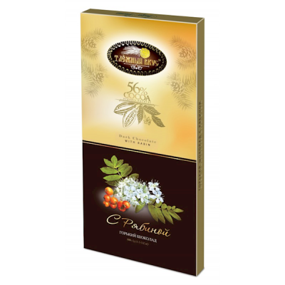 "Dark Chocolate"" Taiga Taste"" with Rowan fruits 100g"