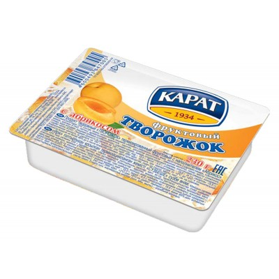 """Dessert cottage cheese """"Carat"""" Fruit with apricot 230 g"""