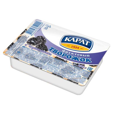 """Dessert cottage cheese """"Carat"""" Fruit with dried plum 230 g"""