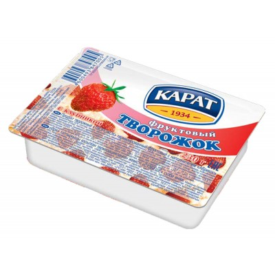 "Dessert cottage cheese ""Carat"" Fruit with strawberry 230 g"