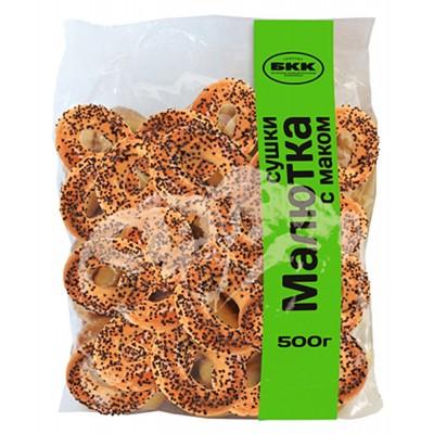 """Dry bagels (sushki) """"Malyutka""""  w/poppy seeds 500 g"""