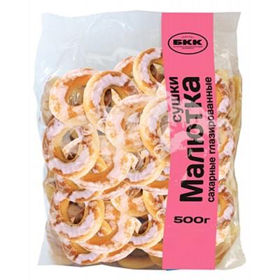 """Dry Bagels (Sushki) """"Malyutka"""" Sugar Glazed 500 g"""