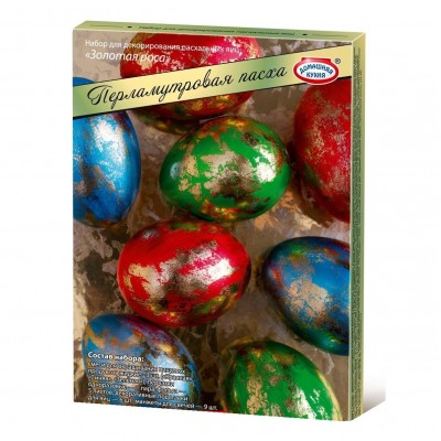 "Easter Egg Coloring ""Pearl Easter"" Golden Dew (3pc)"