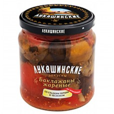 "Eggplant ""Lukashinskie"" fried, with Sweet Pepper and Garlic 460g"