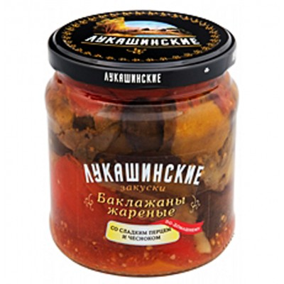 """Eggplant """"Lukashinskie"""" fried, with Sweet Pepper and Garlic 460g"""