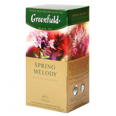 """Greenfield Black Tea """"Spring Melody"""" (25 count)"""