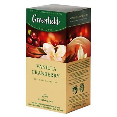 """Greenfield Black Tea """"Vanilla Cranberry"""" 25 bags"""