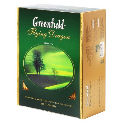 """Greenfield Green Tea """"Flying Dragon"""" (100 count)"""