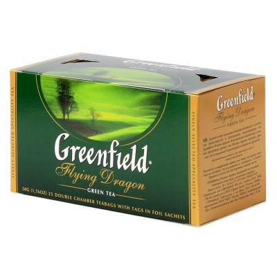 "Greenfield Green Tea ""Flying Dragon"" (25 count)"