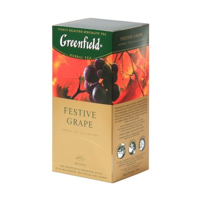 "Greenfield Herbal Tea ""Festive Grape"" 25 bags"
