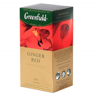 """Greenfield Herbal Tea """"Ginger Red"""" (25 count)"""
