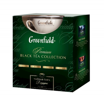 """GREENFIELD"" PREMIUM TEA COLLECTION W/TEA CUP (100 count)"