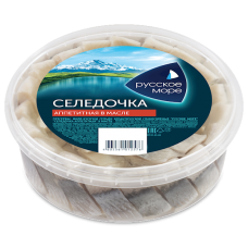 "Herring Fillet ""Russkoe More"" in Oil Appetite (Sliced) 400g"