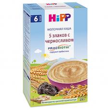 """""""HiPP"""" 5-Grain With Prune Milk & Cereal 250g/8.8oz (6 Month +)"""