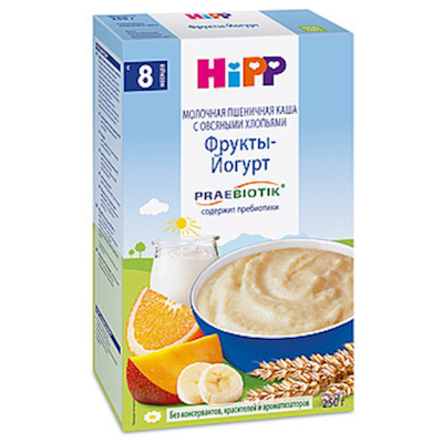 """HiPP"" Fruit Yoghurt Milk & Cereal 250g/8.8oz (8 month +)"