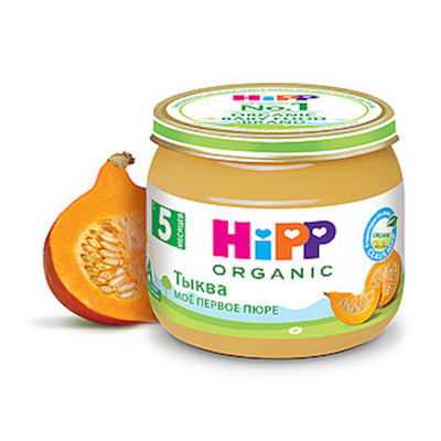 """""""HiPP"""" Pumkin Puree 80g/2.82oz (5 month +)"""