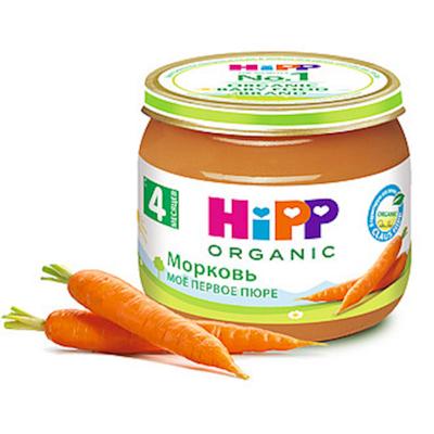 """HiPP""Carrot Puree 80g/2.82oz (4 month +)"