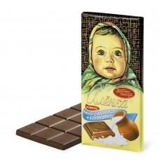 "Imported Russian Milk Chocolate ""Alionka""  with Calcium and Milk"