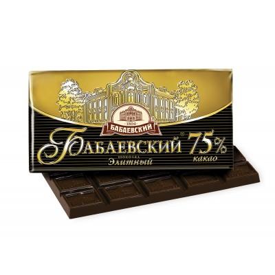 "Imported Russian Chocolate ""Babaevskyi"" Elite 75% cocoa"
