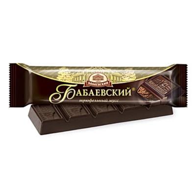 "Imported Russian Chocolate Bar ""Babaevskiy"" truffle mousse"