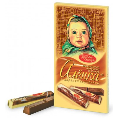 """Imported Russian Chocolate sticks """"Alionka"""" with Condensed Milk"""