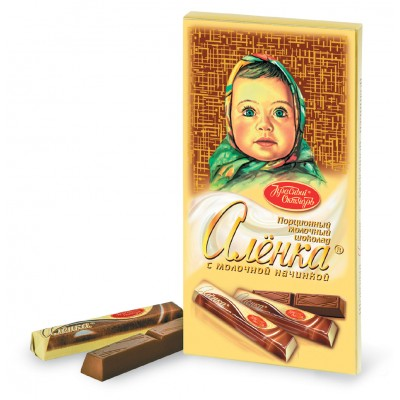 "Imported Russian Chocolate sticks ""Alionka"" with Milk filling"