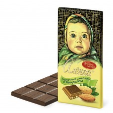 "Imported Russian Milk Chocolate ""Alionka"" with almonds"