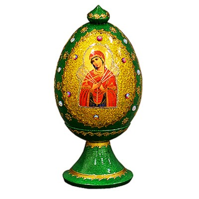 """Imported Russian """"Wooden Egg"""" with natural flower honey"""