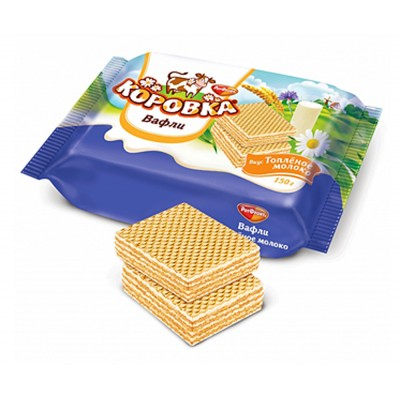 """Importred Russian Wafers """"Korovka"""" Baked Milk 150gr"""