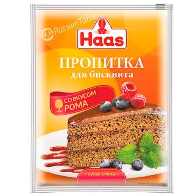 """Impregnation for Sponge cake """"Haas"""" Rum taste 80g/2.82oz"""