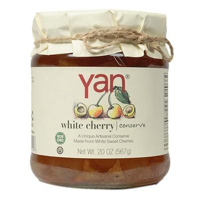 """Jam """"Yan"""" White Cherries 567g/20oz"""