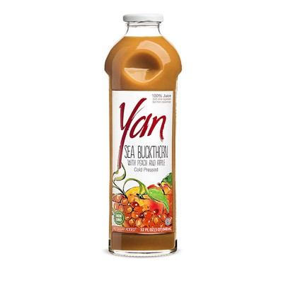 "Juice ""Yan BIO"" Sea Buckthorn and Peach and Apple 1L/33.8oz"