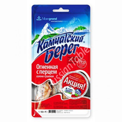 """""""Kamchatskiy bereg"""" Dried Salted  Blue Whiting Fish (with Pepper)"""