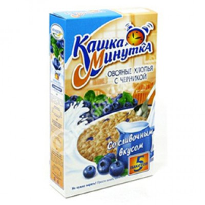 """Kashka-Minutka"" Oat Flakes with blueberries"