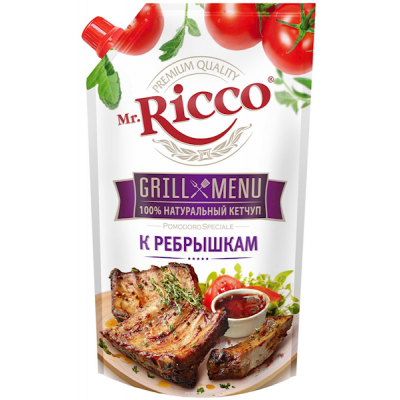 "Ketchup ""Mr. Ricco"" Grilled Ribbs 350g"