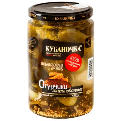 "Marinated Cucumbers ""Kubanochka"" 680g"