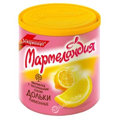 "Marmalade Slices ""UDARNITSA"" Lemon (with Natural Juice) 250g"