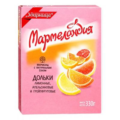 "Marmalade ""UDARNITSA"" Assorted Slices 330g"