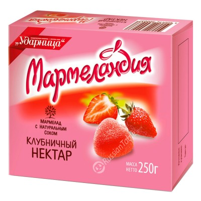 "Marmalade ""UDARNITSA"" Strawberry Nectar 250g"