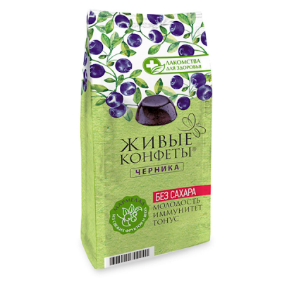"Marmalade ""Zhyvye Konfety"" Blueberry 170g (Sugar FREE)"