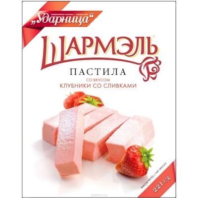 """Marshmallow (Pastila) """"Charmelle"""" Strawberry & Cream Taste"""