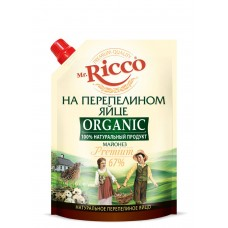 "Mayonnaise ""Mr. Ricco"" Organic on quail egg Premium 800ml"