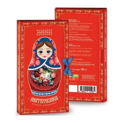 """Milk Chocolate """"Russian Matreshka"""" 100g"""