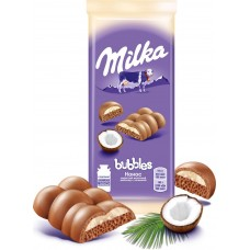 """Milka"" Milk Aerated Chocolate with Coconut filling"