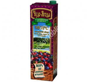 "Mors ""Miracle Berries"" (Chudo-Yagoda) Cranberries, Blueberries, Blackberries 950ml"