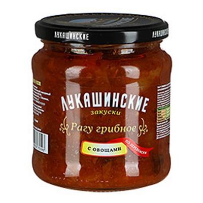 "Mushroom ragout ""Lukashinskie"" with vegetables 450g"