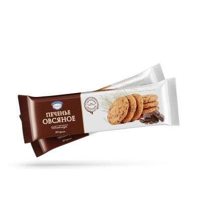 """Oatmeal Cookies """"Polet"""" Classic with Chocolate bites 300g"""