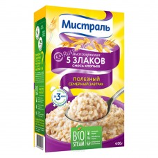 "Oatmeal Flakes 5 zlakov (5 cereals) ""Mistral"" 400g"